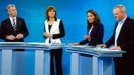 """""""Die Konstellation mit vier Fragenden ist sicherlich ungünstig, deshalb sind wir offen für Veränderungen"""": Ein TV-Duell zwischen Angela Merkel und Martin Schulz wird es aber in jedem Fall geben."""