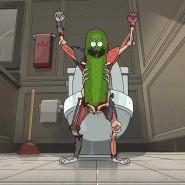 """Bilder aus einer Dimension, in der Robert Habeck nicht Politiker geworden ist: Pickle Rick aus """"Rick and Morty""""."""