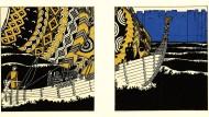 So viel Sinn für textile Muster auf einem Wikingerschiff? Carl Otto Czeschka legte es zuallerletzt auf Treue zum historischen Befund an.