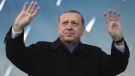Der türkische Präsident Recep Tayyip Erdogan bei einem Auftritt am Mittwoch in der Provinz Afyonkarahisar