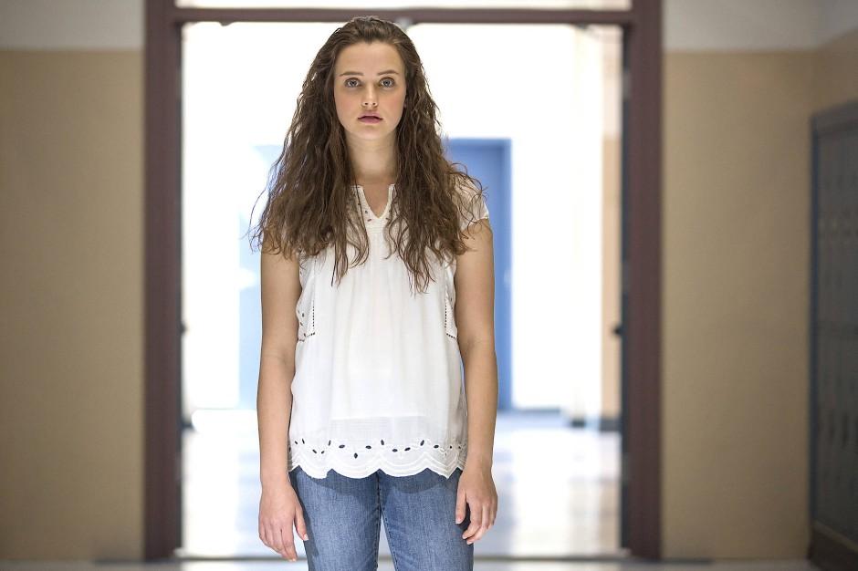 """Verzweifelt: Hannah Baker (Katherine Langford) ist die Hauptfigur in """"13 Reasons Why""""."""