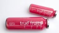 Schmeckt nicht jedem: Smoothies der Firma True Fruits.