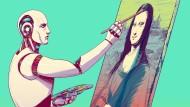 Der Roboter legt Hand an: Dass Künstliche Intelligenz bald schon eine Mona Lisa schafft, ist allerdings nicht zu erwarten