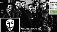 """In rechter Gesellschaft: Screenshot der Seite von """"Anonymous Kollektiv""""."""