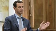 Sein Regime führt Listen: Syriens Präsident Baschar al Assad.