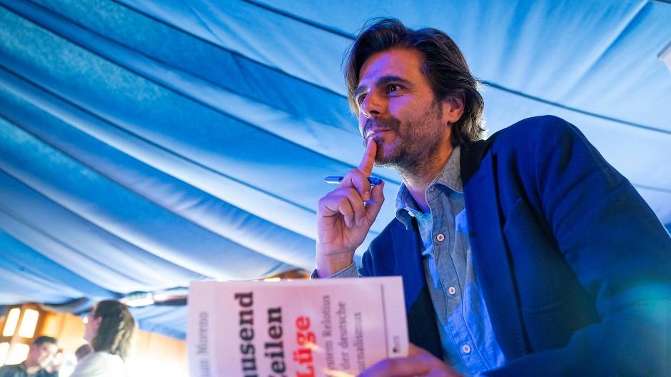 Juan Moreno, hier bei der Vorstellung seines Buchs Tausend Zeilen Lüge Ende September in Berlin.