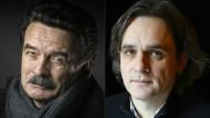 """Kontrahenten: Edwy Plenel (links), Chef des Onlineportal """"Mediapart"""", und Laurent Sourisseau, bekannt als Riss, von """"Charlie Hebdo""""."""