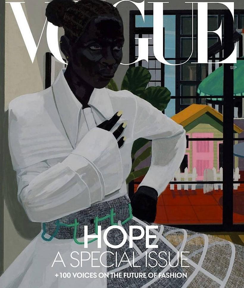 """Hoffnungsbild: Kerry James Marshall malte ein Cover für die """"Vogue""""."""