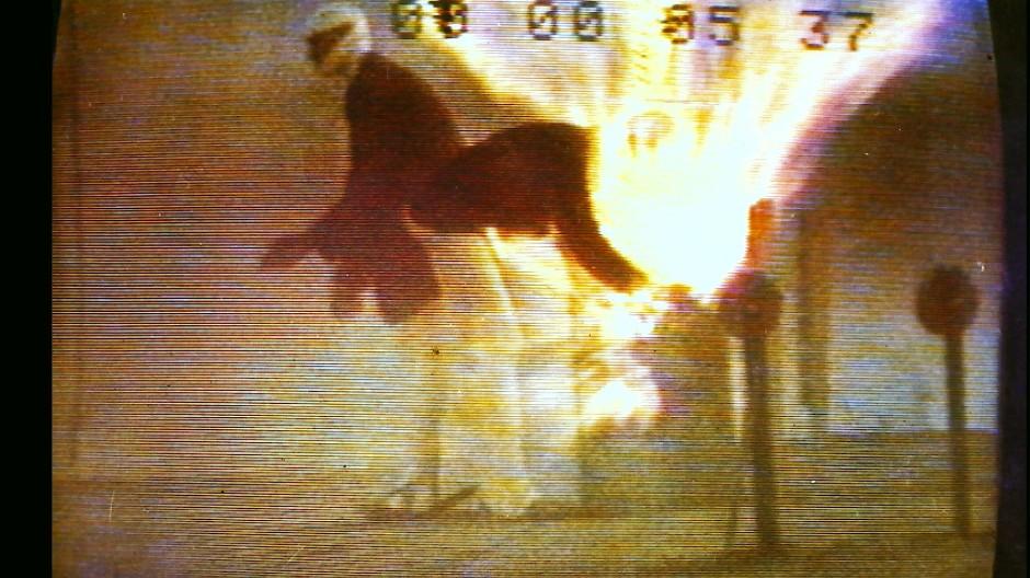 Nachstellung der Explosion: So stellten sich die Ermittler den Hergang des Bombenattentats auf das Oktoberfest 1980 vor.