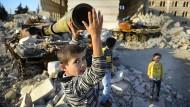 Kriegskinder im nordsyrischen Marea: Eine Aufnahme aus dem Herbst 2012, in dem Janine di Giovannis Reportagen entstanden.
