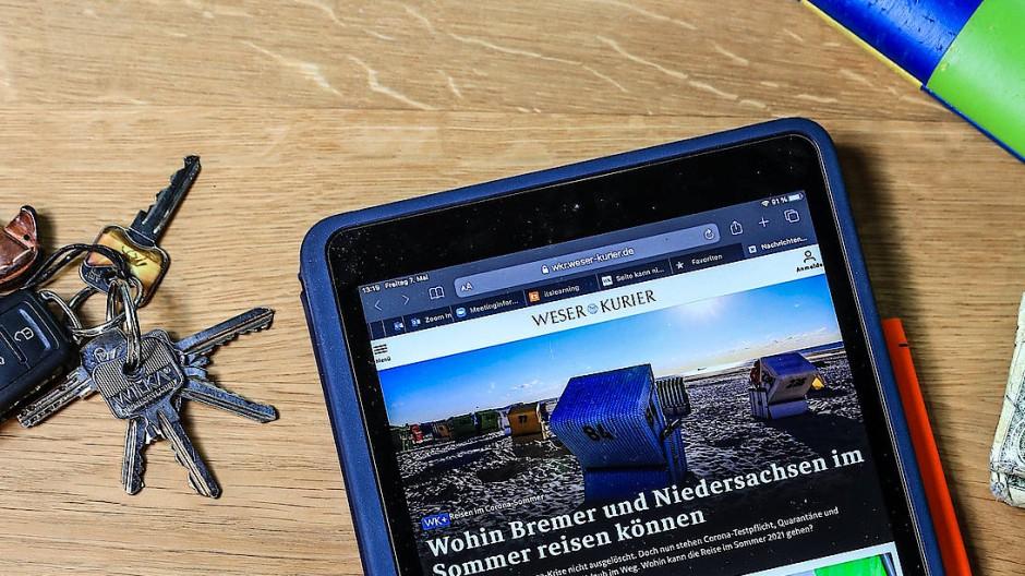 Presse online: Der Weser-Kurier tritt im Internet, wie alle Zeitungen, gegen mächtige Konkurrenz an.