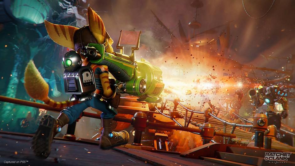 """Raketenwissenschaft: In """"Ratchet & Clank"""" verleiht ein Lombax seinen Argumenten auf explosive Art Nachdruck."""