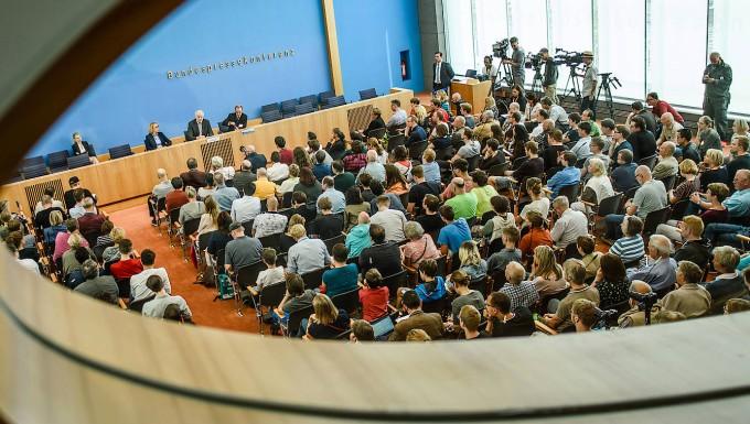 Bundespressekonferenz in Berlin.