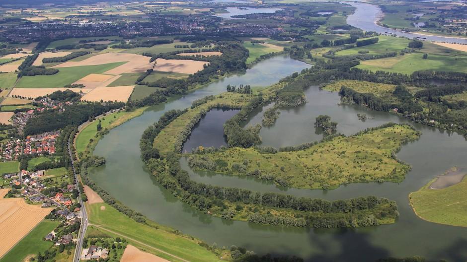 In der Auenlandschaft Bislicher Insel bei Xanten fand in den fünfziger Jahren römische Gegenstände - möglicherweise Teile eines Lagers.