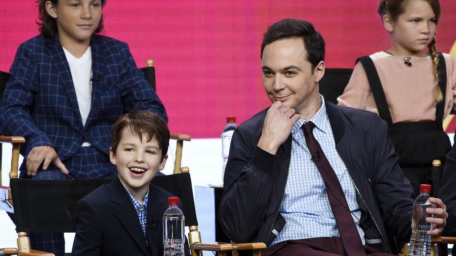 Der junge Sheldon und das Original: Iain Armitage und Jim Parsons