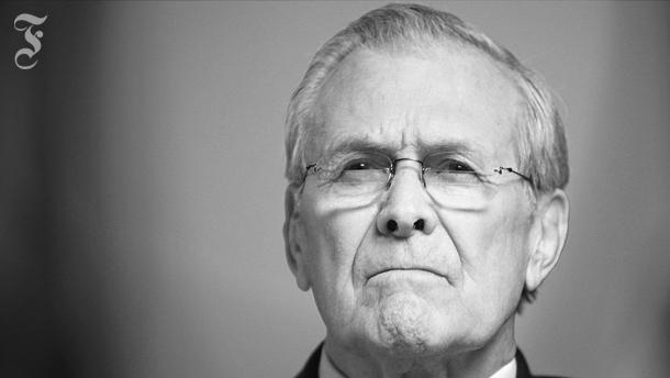Donald Rumsfeld poliert sein Selbstbild blank