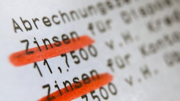 Streit um Negativzinsen schon ab 250 Euro