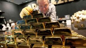 Goldanleger auf dem Rückzug