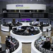 Blick auf die Dax-Tafel an der Frankfurter Börse.