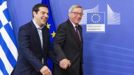 Griechenlands Regierungschef Tsipras trifft Juncker und Schulz