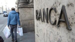 Italiens Banken stoßen auf Finanzierungshürden
