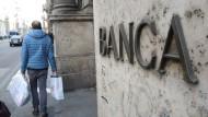 Nicht nur Unicredit, auch andere italienischen Banken haben derzeit Probleme mit Risikoaufschlägen und Refinanzierungen.