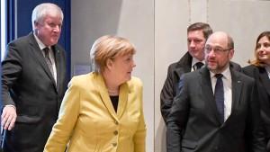 Erstes Spitzengespräch von Union und SPD