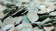 Silbermünzen aus dem Spätmittelalter
