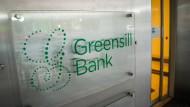 Schriftzug am Eingang: Die Aufsicht hat ein Moratorium über die Greensill Bank AG in Bremen verhängt.