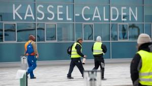 Start für Kassel-Calden
