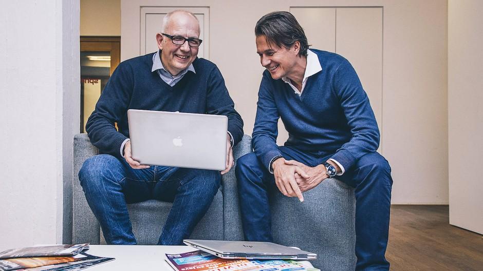 Die beiden Gründer von Itsmydata: Michael Giese (links) und Alexander Sieverts.