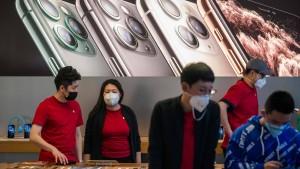Apple sperrt China-Filialen zu