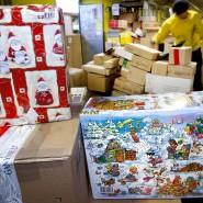 An Weihnachten geht es bei den Paketzustellern rund.