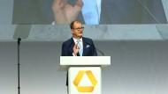 Der Vorstandsvorsitzende der Commerzbank, Martin Zielke, auf der Hauptversammlung 2019 in Wiesbaden
