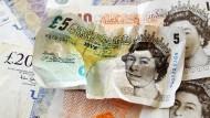 Ganz schön zerknittert: das britische Pfund