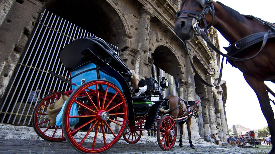 """Ein """"Botticello"""" vor dem Kolosseum"""