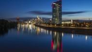 Hochhaus der EZB in Frankfurt am Main