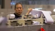 Ein Händler an der Hongkonger Börse.