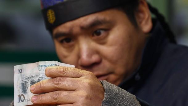Yuan erholt sich vom Fünf-Jahres-Tief