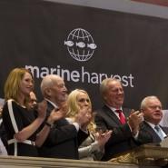 Mit Lachs an die Börse: Seit Februar gibt es die Marine-Harvest-Aktie auch in New York zu kaufen.