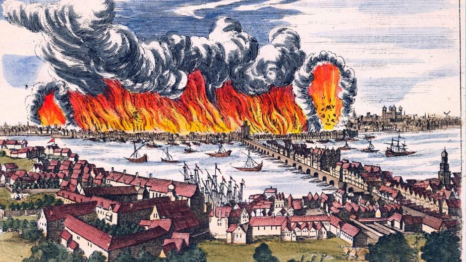 Großbrand in London: Vor 350 Jahren wurden dort 80 Prozent der Häuser zerstört.
