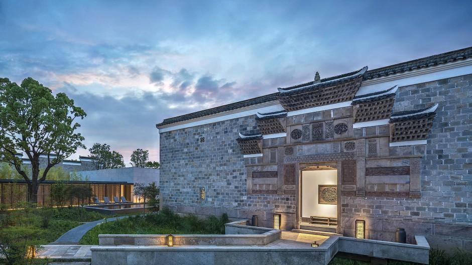 In der Wohnanlage Amanyangyun in Schanghai wurden alte Dörfer wiederaufgebaut.