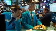 Lange Gesichter bei den Aktienhändlern: Die Wall Street befindet sich weiter im Korrekturmodus.