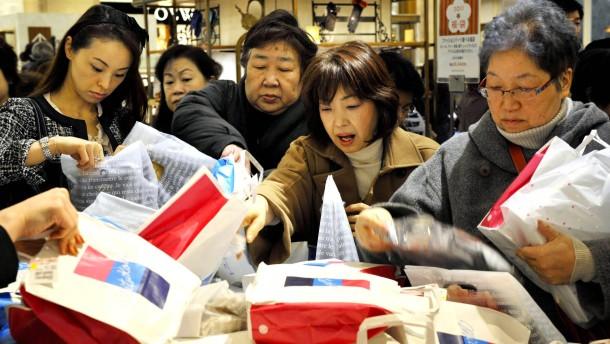 Japaner haben deutlich weniger im Portemonnaie