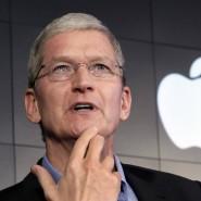Apple-Chef Tim Cook versucht Anleger zu beruhigen.