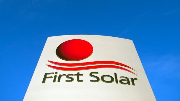 First Solar verdoppelt Quartalsgewinn nahezu