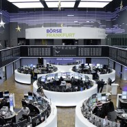 Blick auf die Dax-Tafel an der Frankfurter Börse