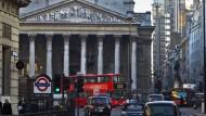 Die Londoner Börse im Stadt Canary Wharf.