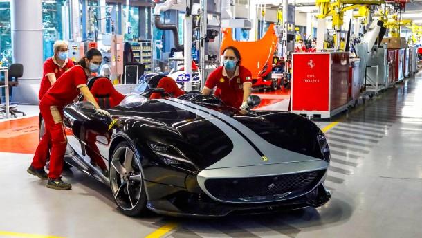 Ferrari auf der Überholspur