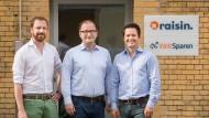 Die Gründer von Raisin: Frank Freund, Tamaz Georgadze und Michael Stephan